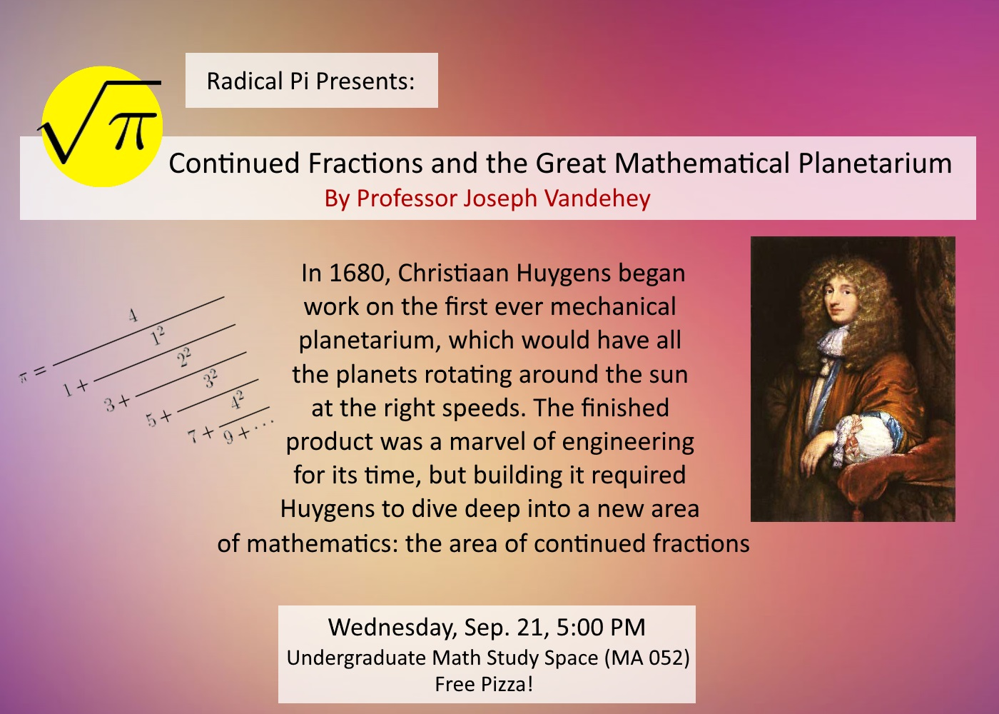 2eaccbd8f5e6f A talk entitled Continued fractions and the great mathematical planetarium